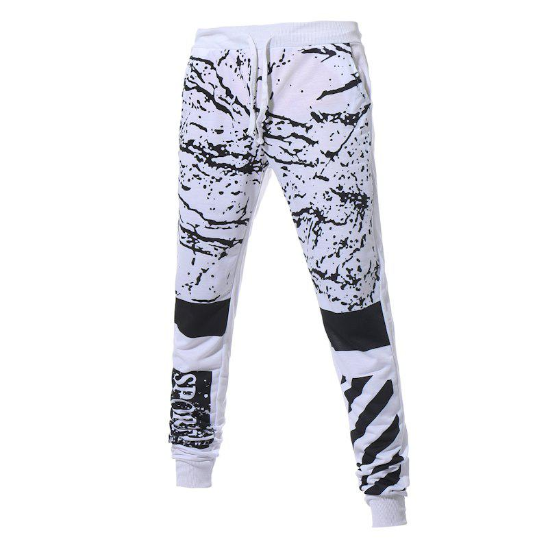 Men's New Fashion Camouflage Printed Pants - WHITE L