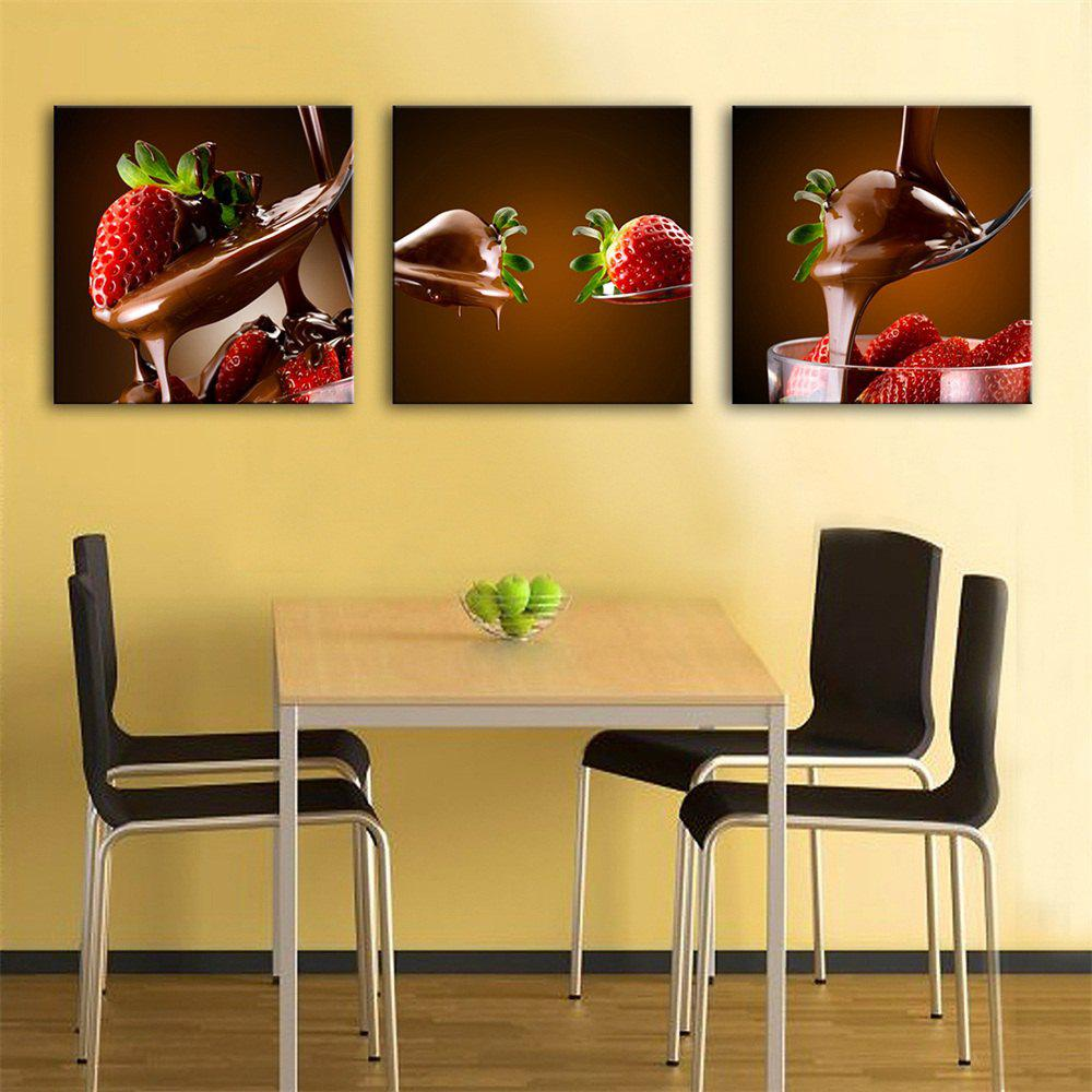 2018 Special Design Frameless Paintings Dessert Print 3PCS ...