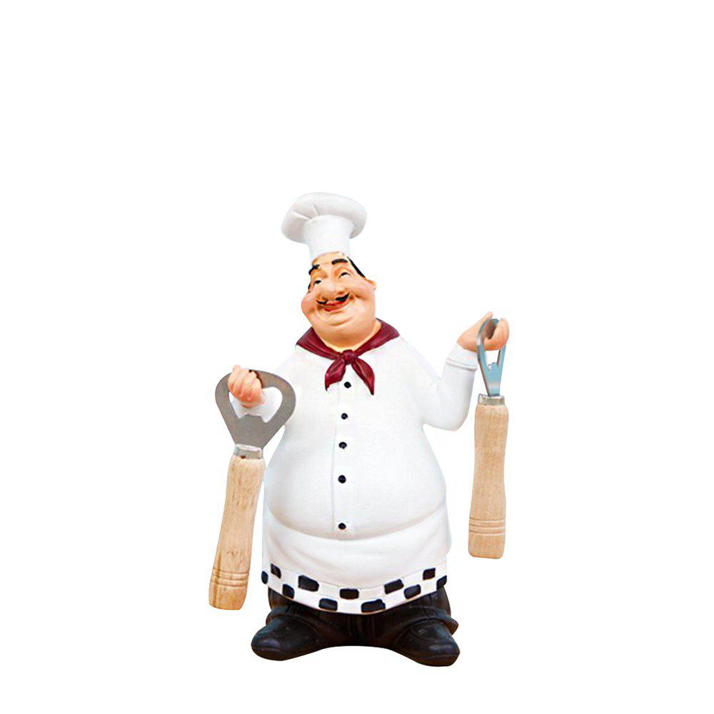 98915 American Country Retro Chef Features Stylish Decorative Ornaments - WARM WHITE
