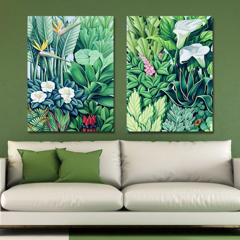 MY43-XDZS - 252-253 2PCS Small Fresh Flower Plants Print Art [get 2pcs dx4 small damper as gift] roland sc540 545ex print head dx4 solvent original for epson dx4