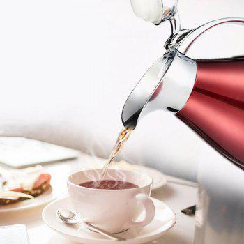 2L Stainless Steel Coffee Cold Drink Kettle Household Water Pitcher Bottle 68 OZ - RED WINE