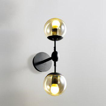 Retro Glass Wall Lamps for House Bar Restaurants Coffee Shop Club Decoration - LIGHT BROWN 220 - 240V