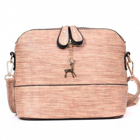 Trend Al-match Shell Shoulder Crossbody Bag - PINK BUBBLEGUM
