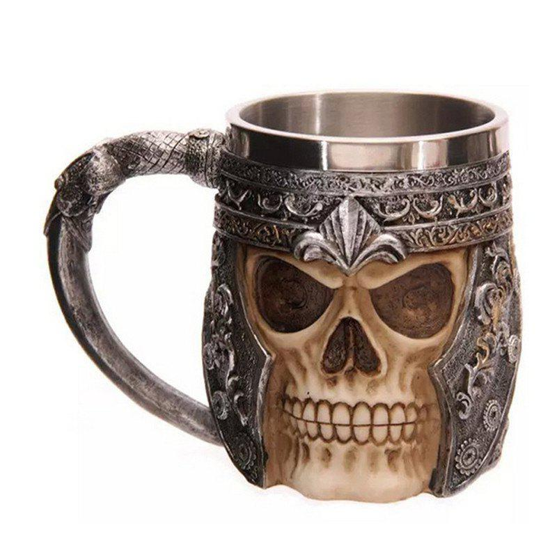 BALDR 3D Skull Dragon Claw Knight Skeleton Spine Stainless Steel Cup Coffee Mug skull with cervical spine 1 1 skull with cervical vertebra model natural large skull cervical spine model