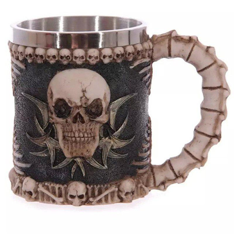 BALDR 3D Skull Dragon Claw Knight Skeleton Spine Stainless Steel Cup Coffee Mug stainless steel 3d dragon mug