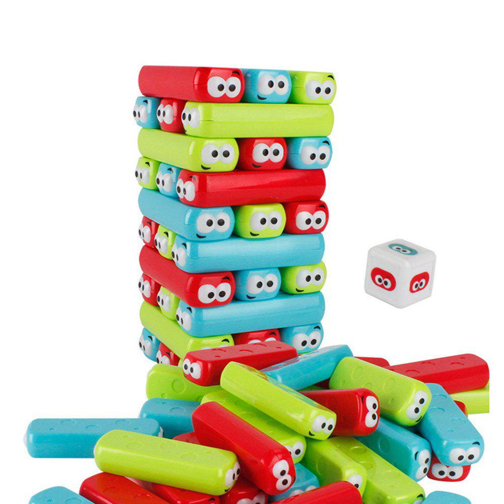 Cartoon Building Blocks Jenga Tower Baby Stacking Interactive Educational Toy jaheertoy montessori early childhood educational wooden toys geometric assembling blocks baby shape cognition teaching aid