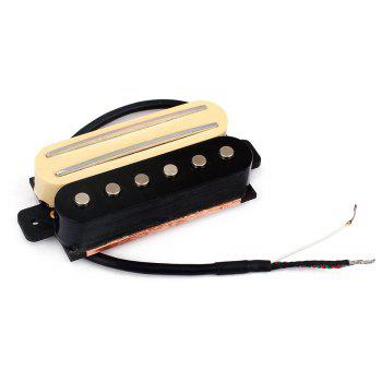 Electric Guitar Dual Rail Bridge Humbucker with Single Coil Pickup - CREAM