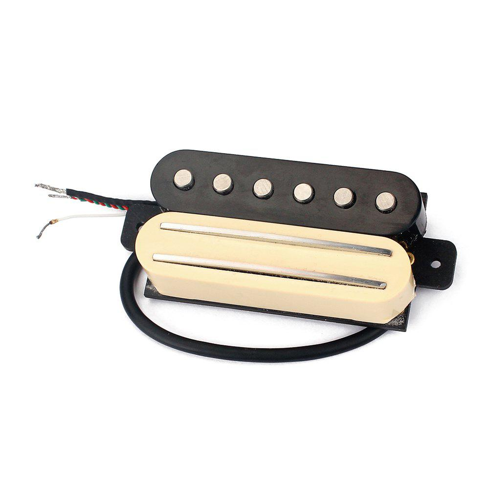 Electric Guitar Dual Rail Bridge Humbucker with Single Coil Pickup guitarfamily super quantity humbucker pickup fixed electric guitar bridge stainless saddle brass plate chrome made in korea
