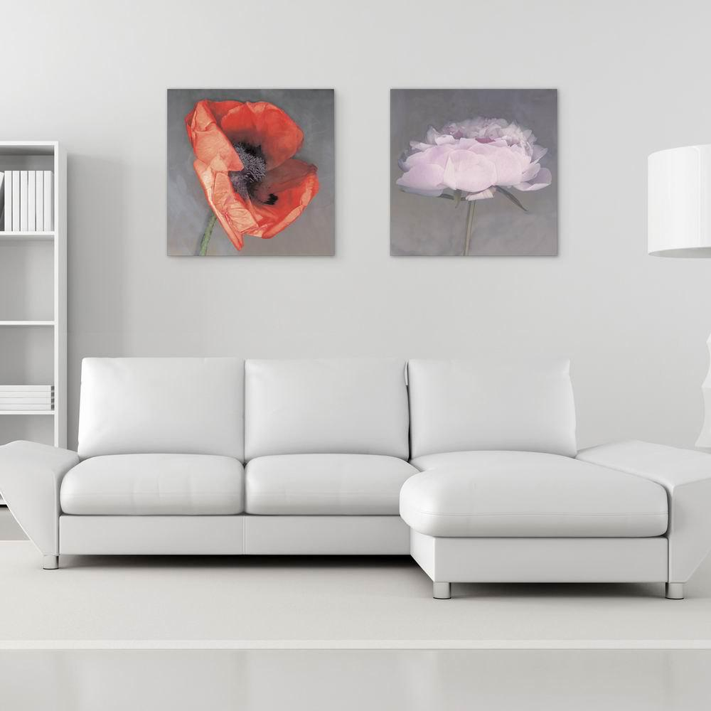 W107 Flowers Unframed Wall Art Canvas Prints for Home Decorations 2 PCS family wall quote removable wall stickers home decal art mural