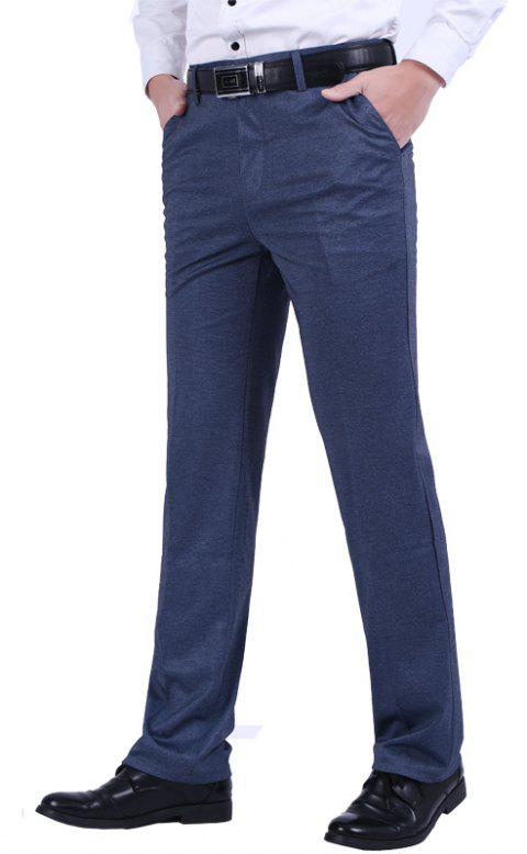 Slim Business Casual Pants - SLATE GRAY 36