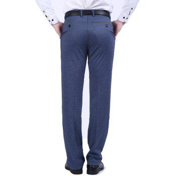 Slim Business Casual Pants - SLATE GRAY 34
