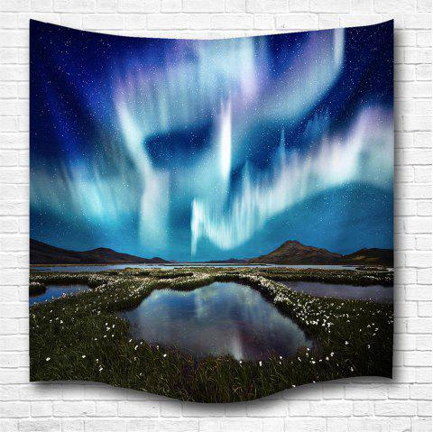 The Aurora 3D Printing Home Wall Hanging Tapestry for Decoration - multicolor A W200CMXL180CM