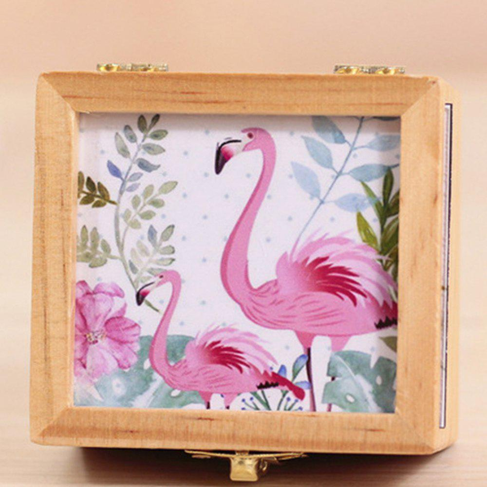 Creative Bird Style Retro Rotating Music Box - multicolor A