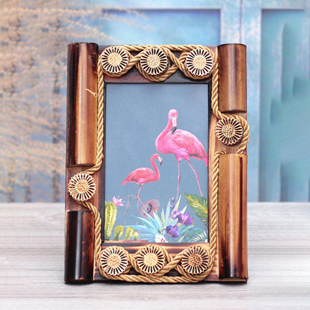 Bird Pattern Flower Photo Frame Decoration - multicolor B