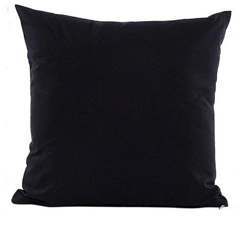 Simple And Pure Color Pillowcase - BLACK