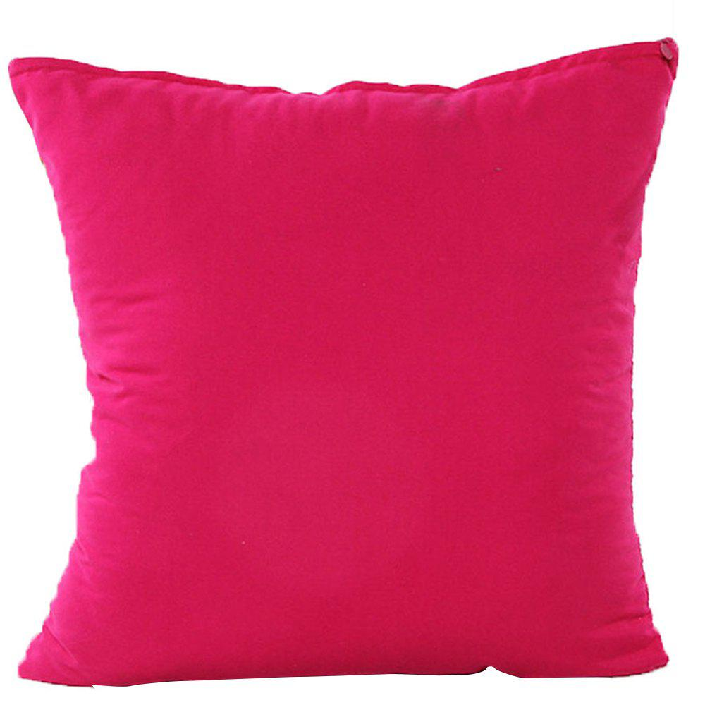 Simple And Pure Color Pillowcase - ROSE RED