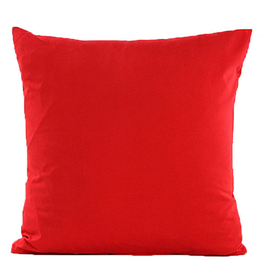 Simple And Pure Color Pillowcase - RED