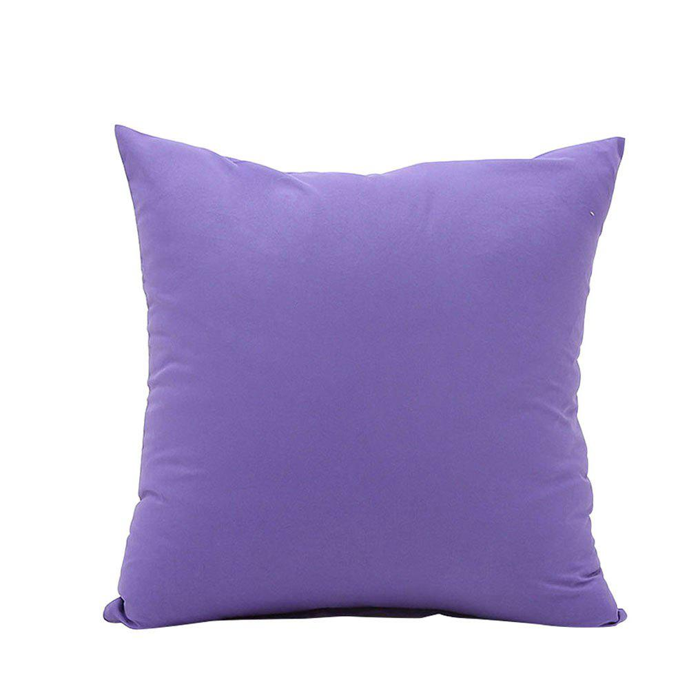 Simple And Pure Color Pillowcase - PURPLE