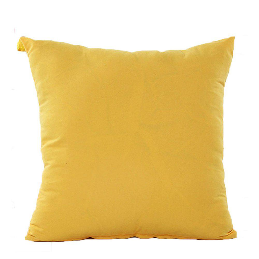 Simple And Pure Color Pillowcase - YELLOW