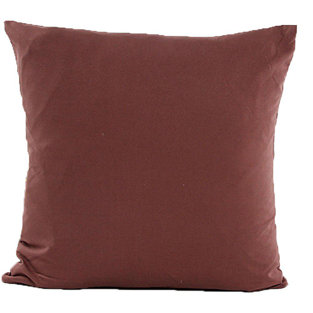 Simple And Pure Color Pillowcase - COFFEE