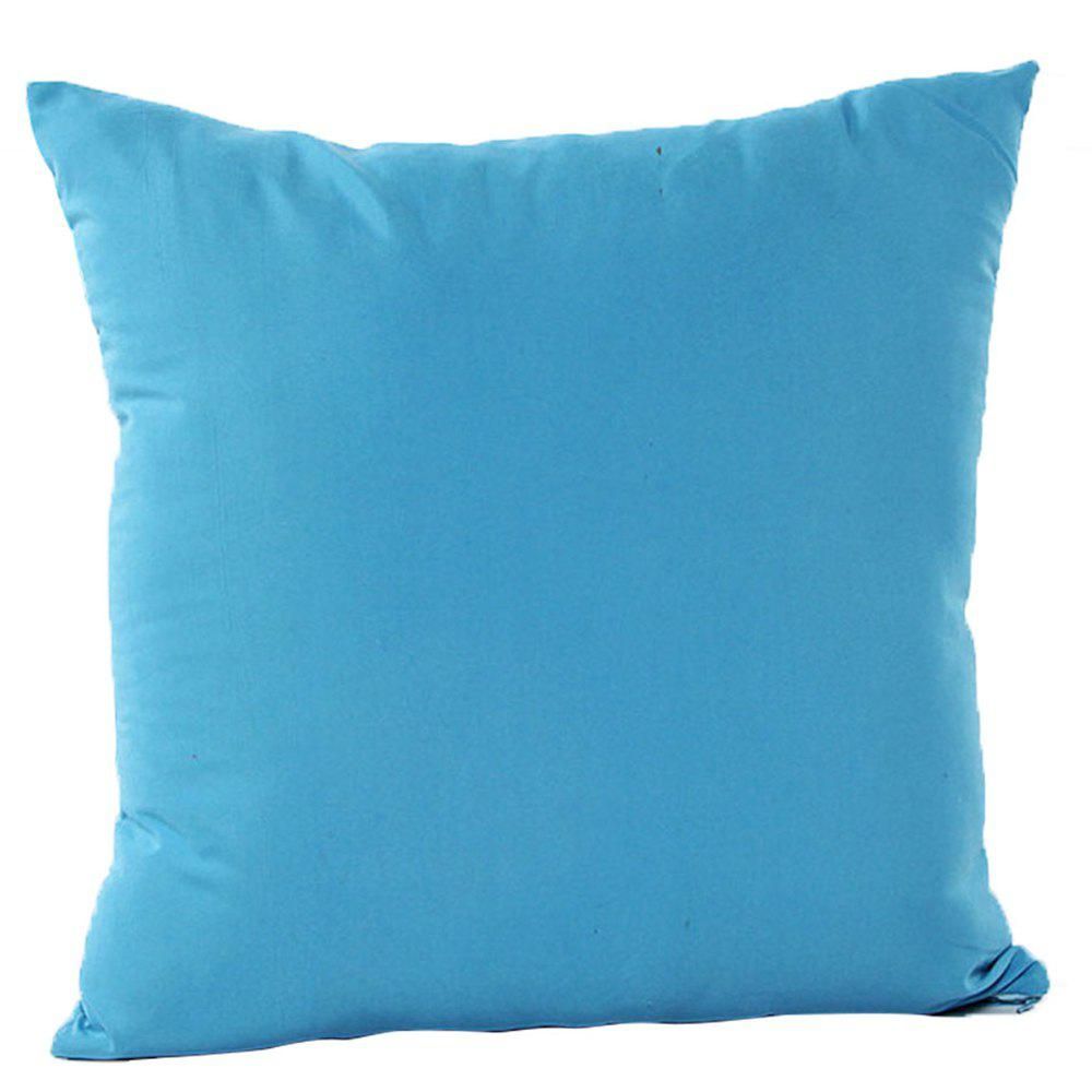 Simple And Pure Color Pillowcase - DEEP SKY BLUE