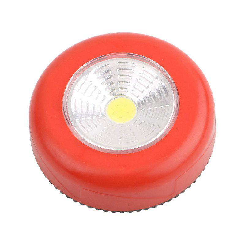 Multi-Function Portable Mini COB LED Night Light Use AAA Batteries - RUBY RED