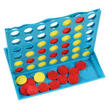Stereo Connect Four Quadruple Chess Board Game Five Children Educational Toys - DAY SKY BLUE