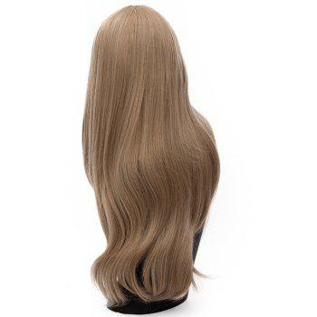 Fashion Long Straight Bob Wig for Women Light Brown Dark Red colors 29inch - BROWN BEAR