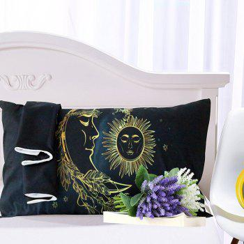 Gold Moon Bedding  Duvet Cover Set Digital Print 3pcs - multicolor KING