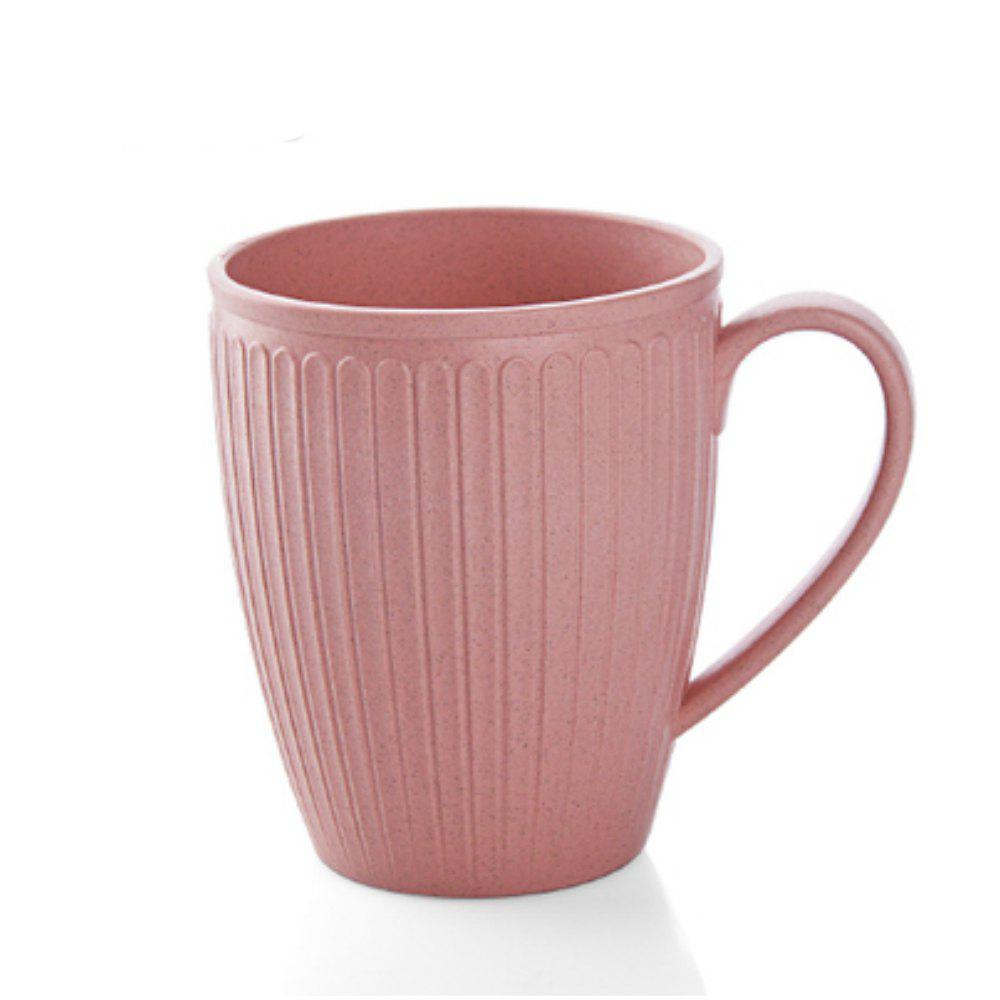 Wheat Straw Toothbrush Cup - PINK BOW