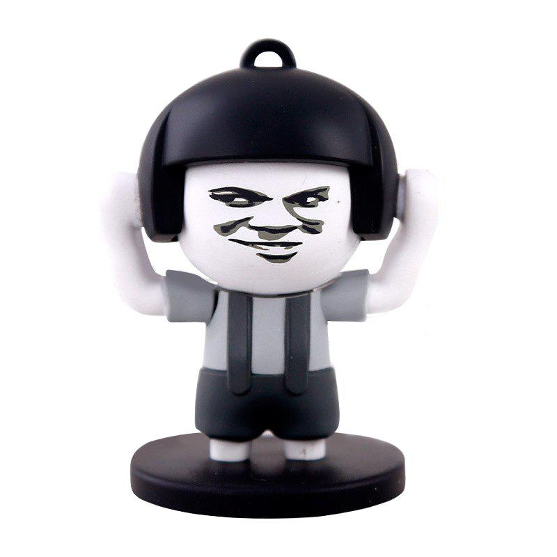 4 Faces Mushroom Head Face Expression Changing Action Figure Keychain Toy Gifts big size 15cm hot sales super wings abs planes transformation robot airplane robots brinquedos jett action figure toys gifts