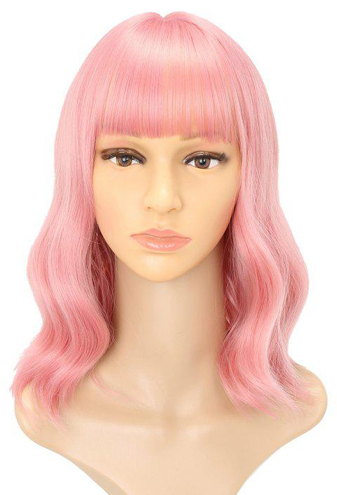 Pink Charming Wavy Heat Resistant Synthetic Long Hair Lolita Party Cosplay Wigs - PINK 16INCH