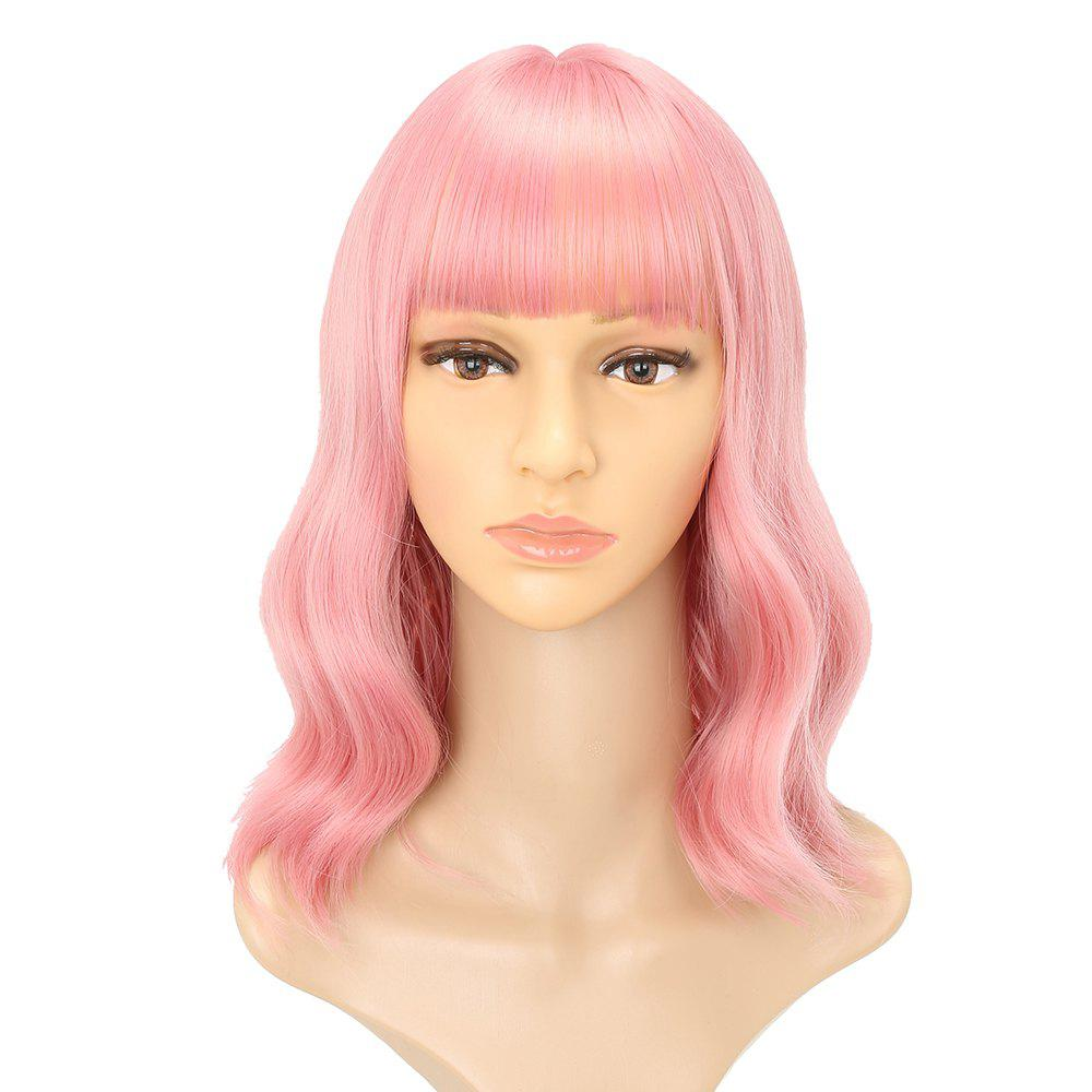 Pink Charming Wavy Heat Resistant Synthetic Long Hair Lolita Party Cosplay Wigs 32 80cm long straight synthetic hair orange cosplay wig heat resistant costume party wigs cheap anime wigs free shipping