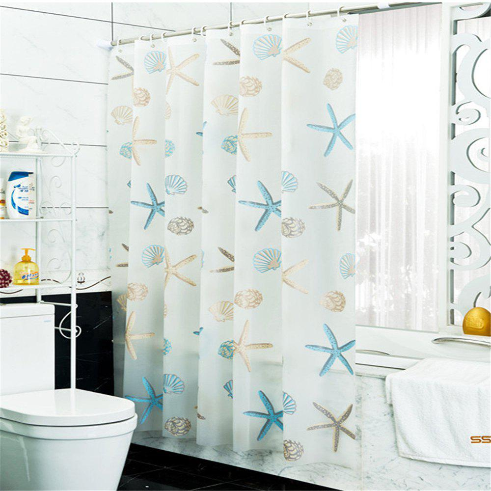Bathroom Shower Curtain Waterproof and Mildew Toilet Partition Curtain antibacterial and antibacterial transparent bathroom shower curtain