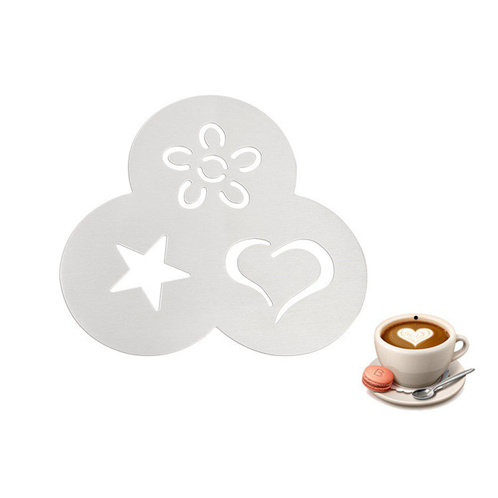3-in-1 Coffee Latte Mold Stainless Steel Flower Star Heart Shape drip type coffee maker machine stainless steel home fully automatic mini coffee making professional cappuccino latte 220v 550w