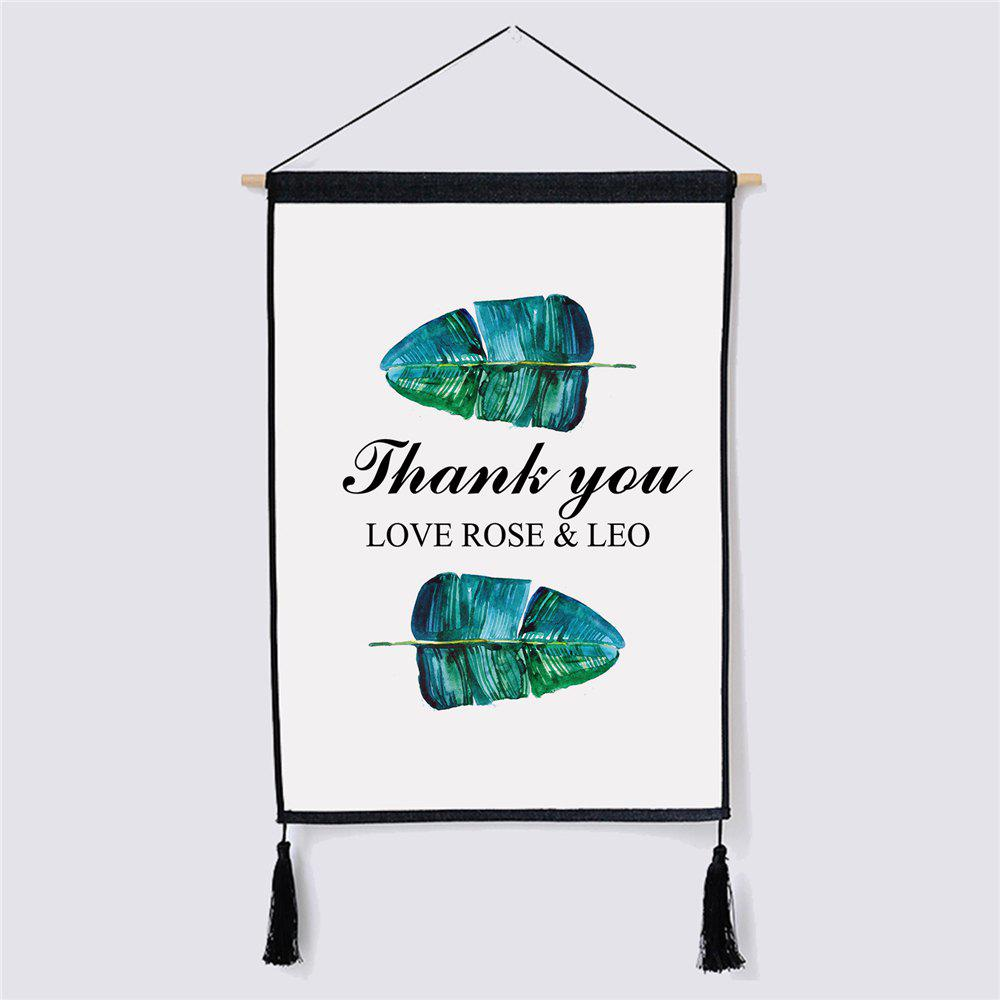 Modern Minimalist Style Leaf Pattern Fabric Hanging Paintings modern minimalist style green leaf fabric hanging painting