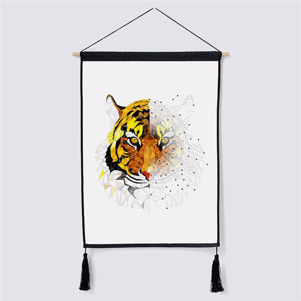 Modern Minimalist Style Tiger Fabric Hanging Painting led lamp creative lights fabric lampshade painting chandelier iron vintage chandeliers american style indoor lighting fixture