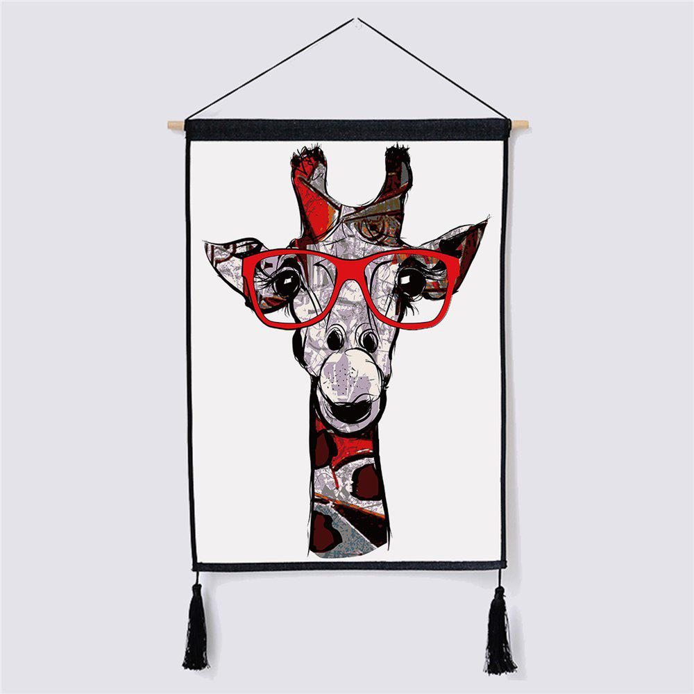 Modern Minimalist Style Giraffe Fabric Hanging Painting led lamp creative lights fabric lampshade painting chandelier iron vintage chandeliers american style indoor lighting fixture