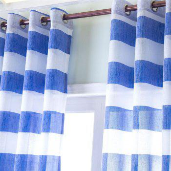 1PCS Fresh and Simple Style Striped Curtain - BLUE