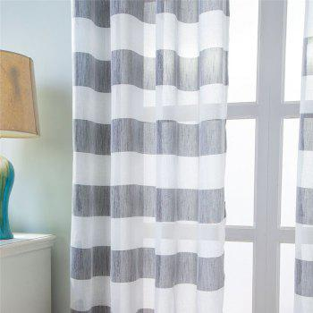 1PCS Fresh and Simple Style Striped Curtain - GRAY