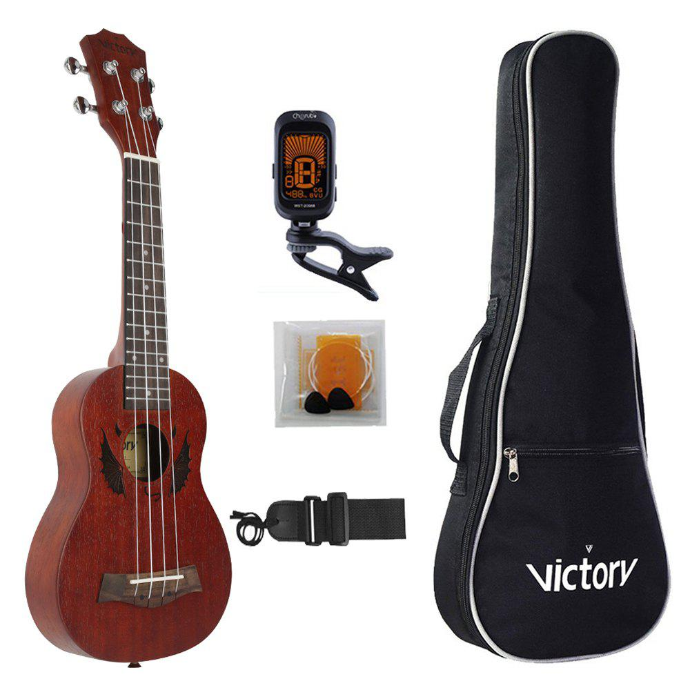 Soprano Ukulele 21 inch all Mahogany Material with Beginner Kit 26inch ukulele hawaiian 4 strings mini guitar mahogany for beginner player