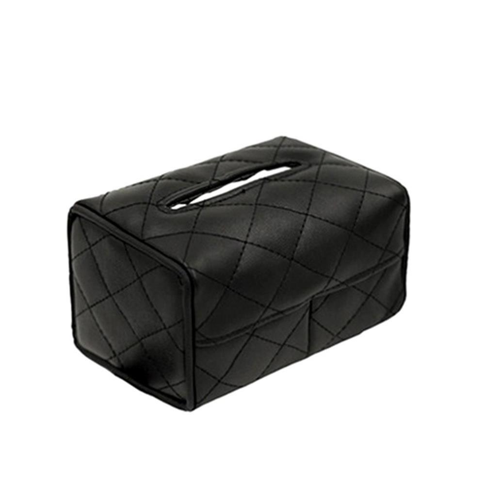 WZ-032303 New Sun Visor Hanging Car Tissue Box - BLACK