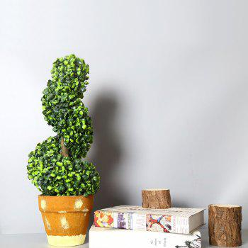 WX-031701 Living Room Home Decoration Bonsai Ornaments Rural Fresh Potted Plants - GREEN APPLE