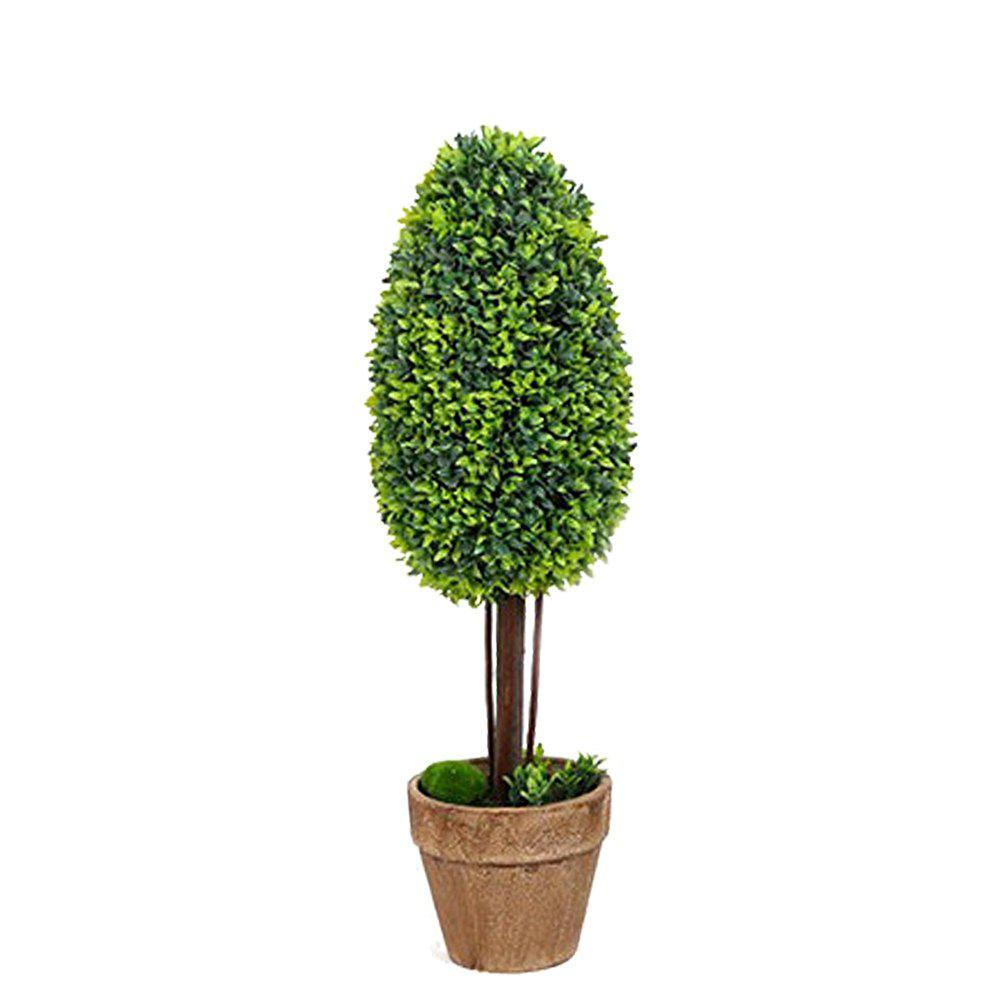 WX-031701 Living Room Home Decoration Bonsai Ornaments Rural Fresh Potted Plants - YELLOW GREEN