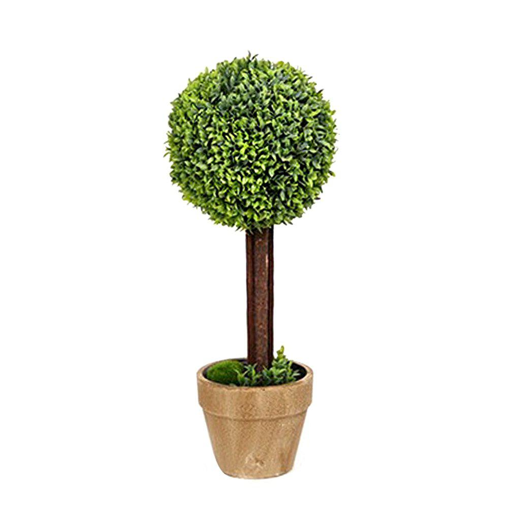 WX-031701 Living Room Home Decoration Bonsai Ornaments Rural Fresh Potted Plants - GREEN