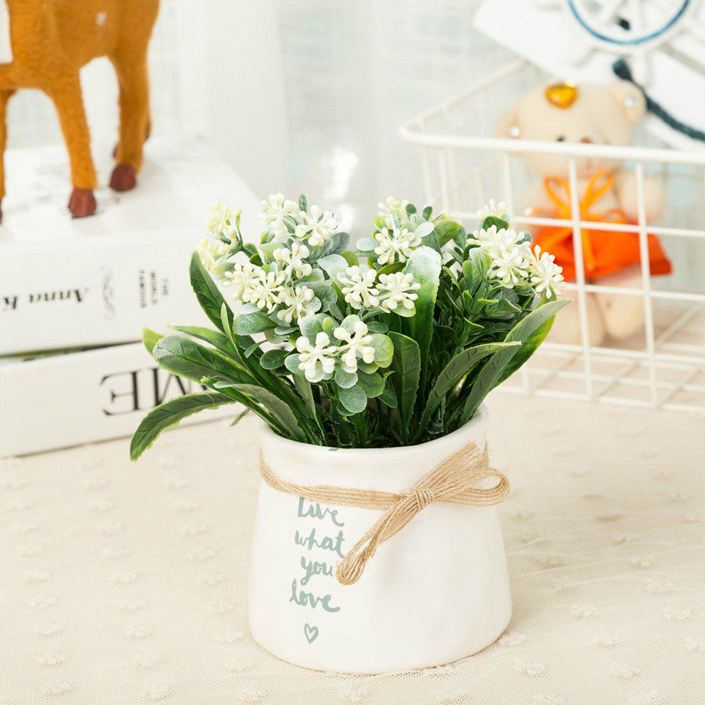 WXQY-12 Nordic Garden Home Milan Potted Plant - WHITE