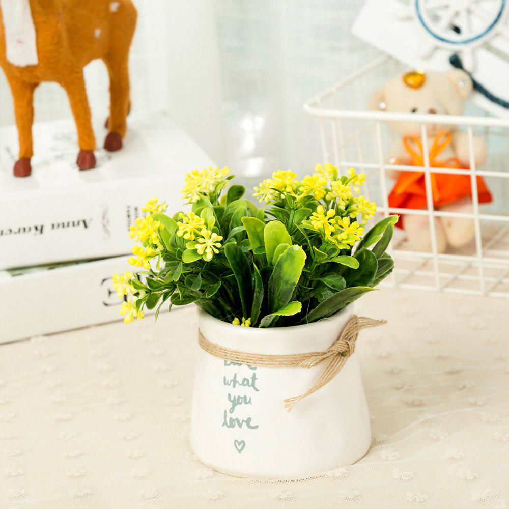 WXQY-12 Nordic Garden Home Milan Potted Plant - YELLOW