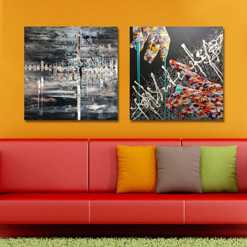 MY43-CX - 269-273 Fashion Abstract Print Art Ready to Hang Paintings 2PCS dyc 10103 4pcs dogs print art ready to hang paintings