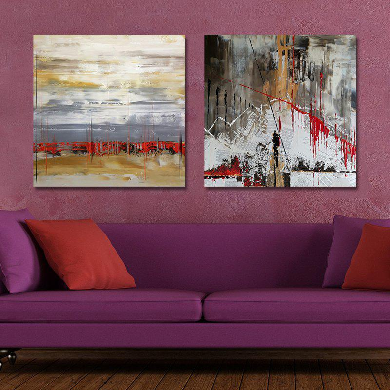 MY43-CX - 280-282 Fashion Abstract Print Art Ready to Hang Paintings 2PCS dyc 10103 4pcs dogs print art ready to hang paintings