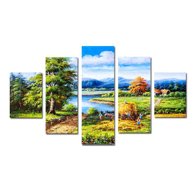 QiaoJiaHuaYuan Contemporary Sitting Room Sofa Background Mountain Scenery 5PCS kate photo background scenery